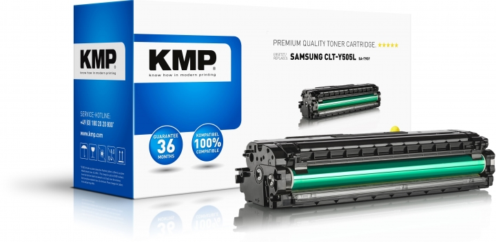 KMP SA-T95Y Toner Gelb ersetzt Samsung Y505L (CLTY505LELS)