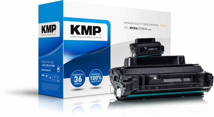 KMP H-T227 Toner Schwarz ersetzt HP 81A (CF281A)