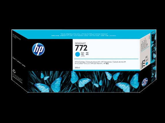 HP 772 Cyan DesignJet Tintenpatrone, 300 ml