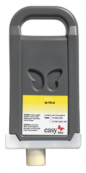 easy inks Tintentank Gelb für Canon iPF8400, 8400S, 8400SE, 9400, 9400S, kompatibel zu PFI-706, 7