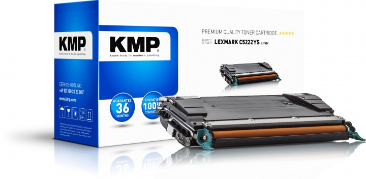 KMP L-T85Y Toner Gelb ersetzt Lexmark C5222YS