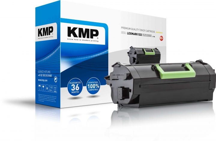 KMP L-T50 Toner ersetzt Lexmark 522 (52D2000)