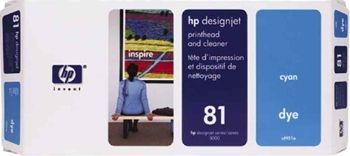HP 81 Druckkopf + Reiniger cyan No.81