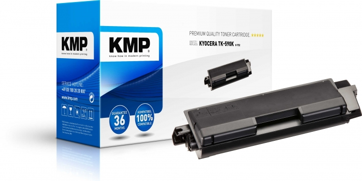 KMP K-T52 Toner ersetzt Kyocera TK590K (1T02KV0NL0)